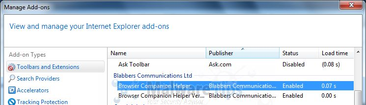 [Image: Ginyas Browser Companion Internet Explorer add-on]