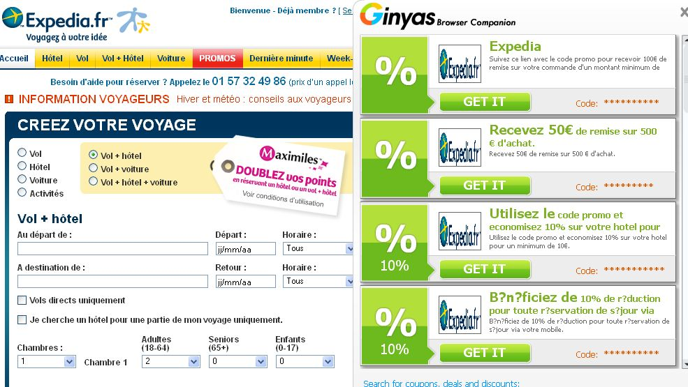 [Image: Ginyas Browser Companion coupons]