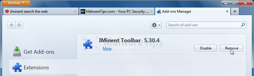 [Image: Iminent Toolbar Firefox extensions]