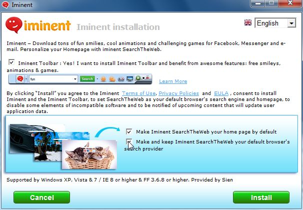 [Image: Iminent Toolbar installer]