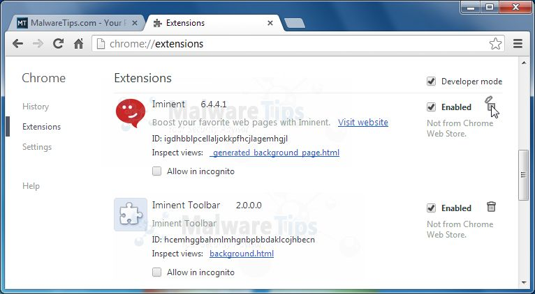[Image: Iminent Toolbar Chrome extensions]