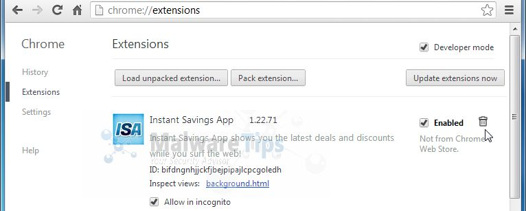 [Image: InstantSavingsApp Chrome extension]