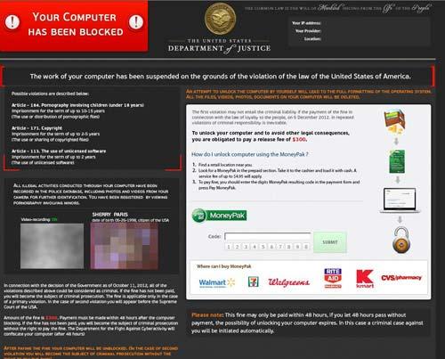 Remove Green Dot MoneyPak virus (FBI or Police Scam)