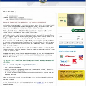 [Image: FBI Greendot MoneyPak scam]