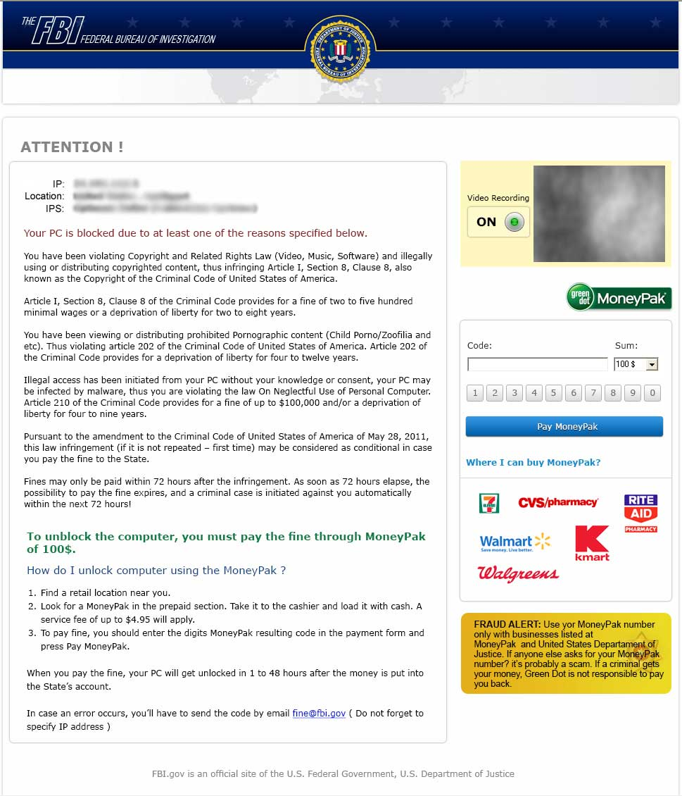 remove green dot moneypak virus fbi or police scam image fbi greendot moneypak scam