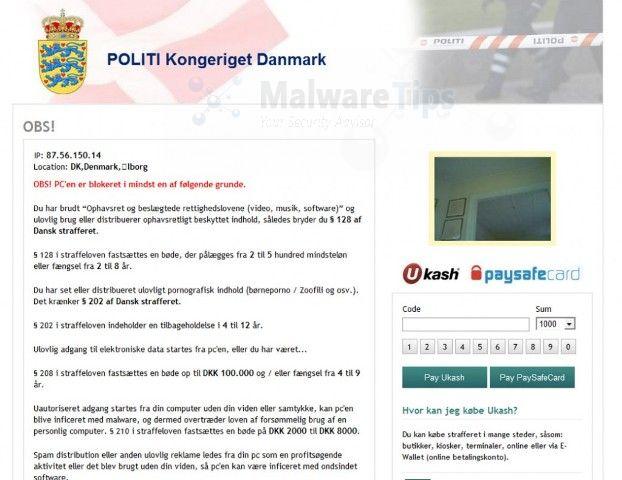 [Image: POLITI Kongeriget Danmark virus]
