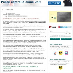 [Image: Police Central e-crime Unit virus]