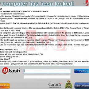 [Image: Royal Canadian Mounted Police Ukash Virus]