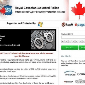 [Image: Royal Canadian Mounted Police virus]