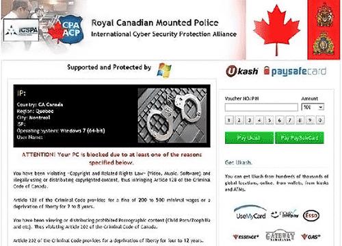 [Image: Royal Canadian Mounted Police virus]