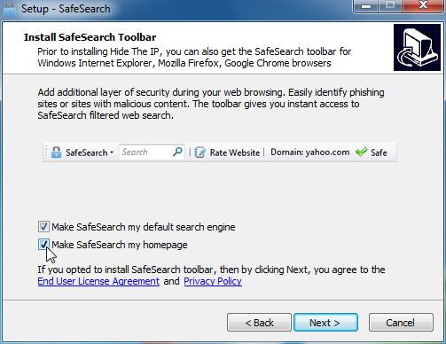 [Image: SafeSearch installation process]