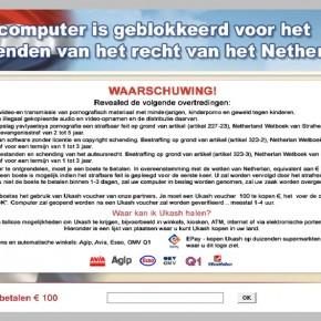 [Image: Uw computer is geblokkeerd scam]