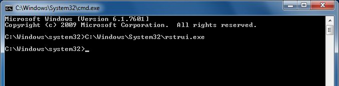 [Image: Start System Restore from Safe Mode with Command Prompt]
