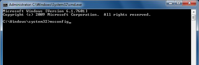 [Image: Type msconfig in the Command prompt]
