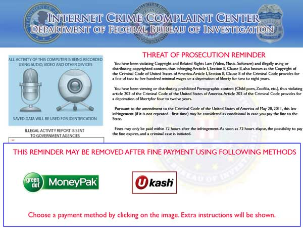 [Image: Internet Crime Complaint Center virus]