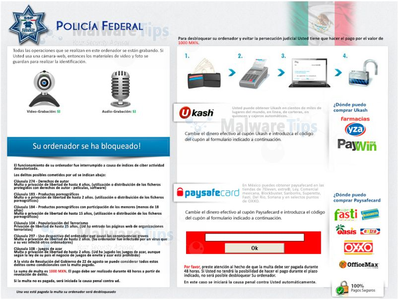 [Image: Policia Federal virus]