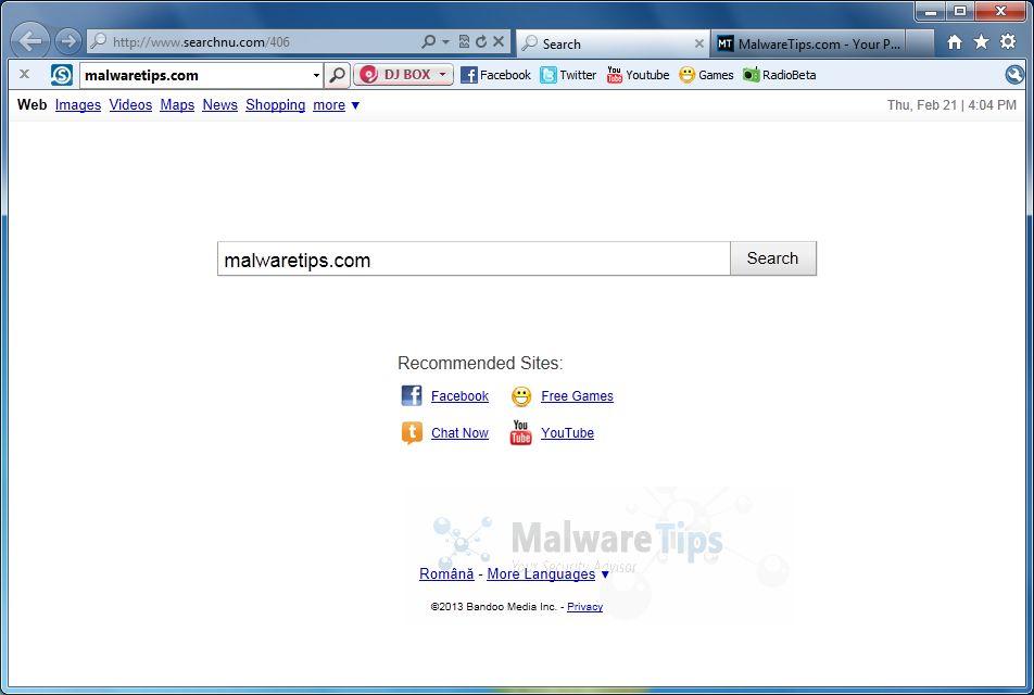 [Image: Searchnu homepage]