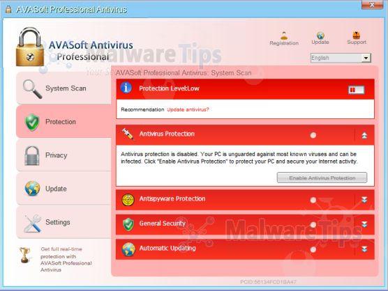 [Image: AVASoft Antivirus Professional]