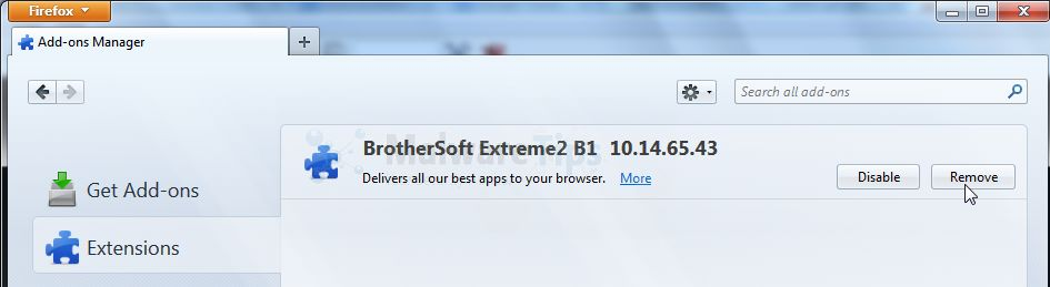 [Image: BrotherSoft Extreme2 B1 Toolbar Firefox extensions]