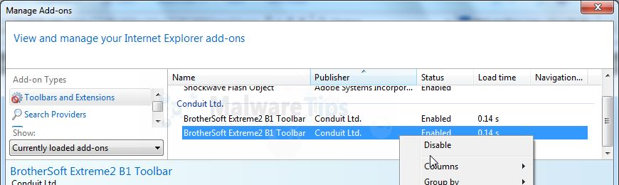 [Image: Brothersoft Toolbar Internet Explorer add-ons]