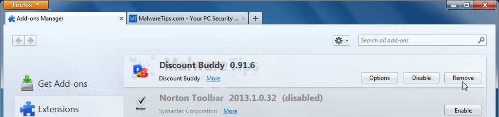 [Image: Discount Buddy Firefox extension]