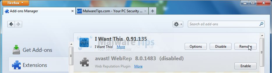 [Image:  I Want This Firefox  extension]