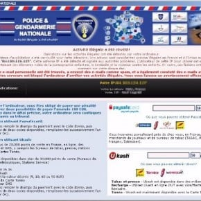 [Image: Police & Gendarmerie Nationale scam