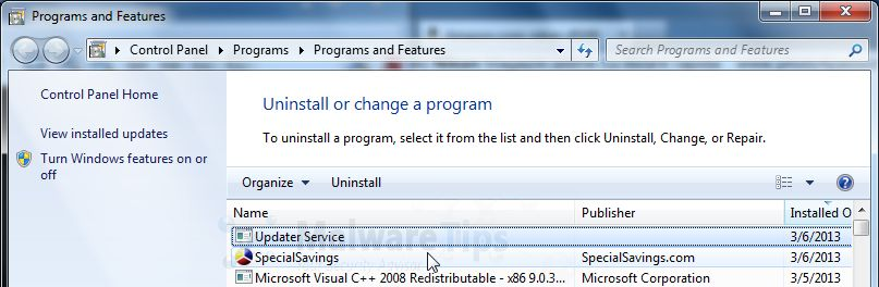 Remove Sweetpacks Updater Service | Rachael Edwards