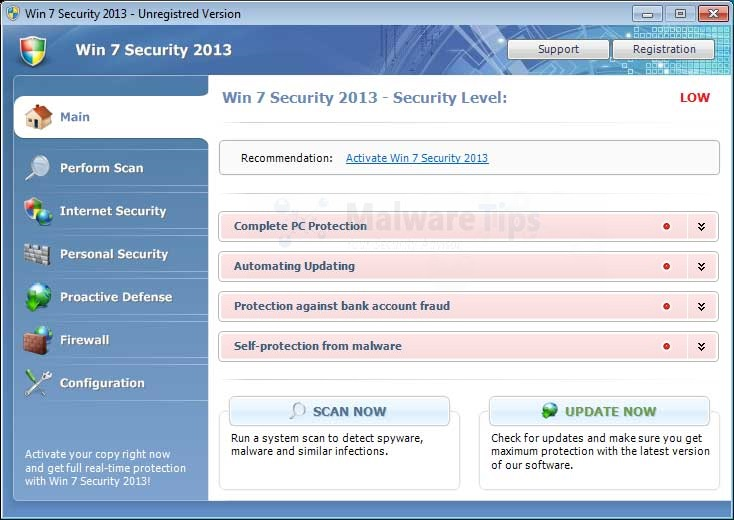 [Image: Win 7 Security Cleaner Pro virus]
