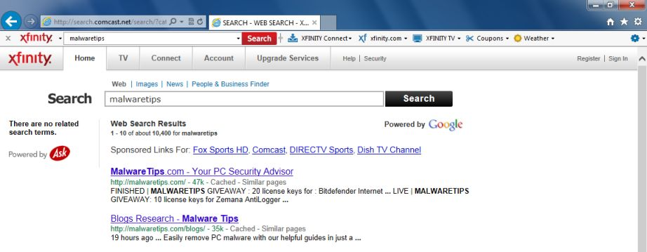 [Image: Xfinity Search]