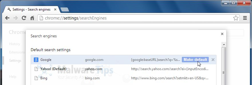 how to delete ask search engine from chrome