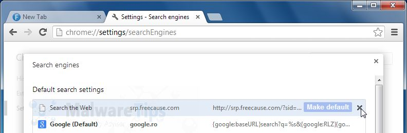 [Image: Bucksbee Search Chrome redirect removal]