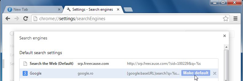 [Image: Bucksbee Search Chrome redirect]