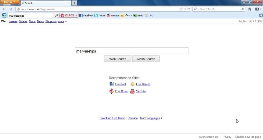 [Image: iMesh Search virus]