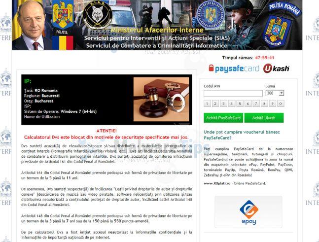 [Image: Serviciul De Combaterea A Criminalităţii Informatice virus]