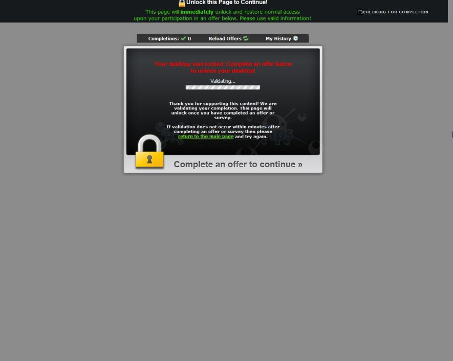 Remove Quot Complete An Offer To Continue Quot Virus Survey Scam