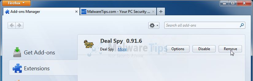 [Image: Deal Spy Firefox extension]
