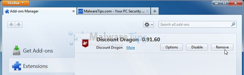 [Image: Discount Dragon Firefox extension]