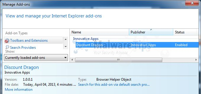 [Image: Discount Dragon Internet Explorer extension]