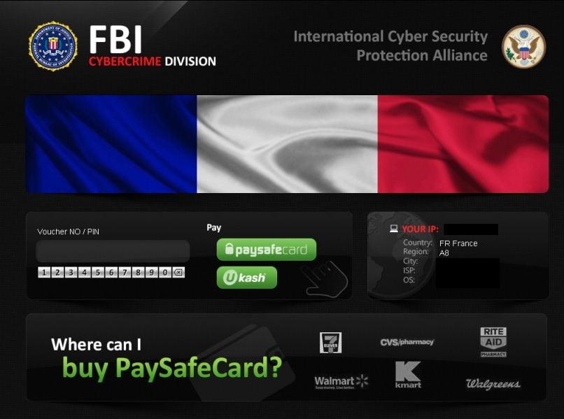[Image:  FBI CyberCrime Division ICSPA virus]