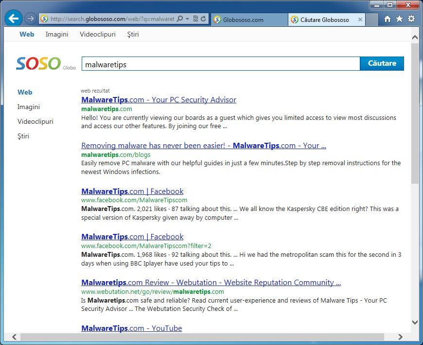 Remove Globososo.com search redirect (Removal Guide)