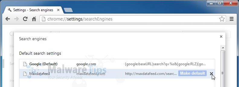 [Image: maxdatafeed.com search redirect removal]