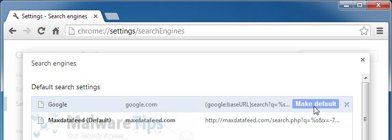 [Image: Maxdatafeed Search redirect]