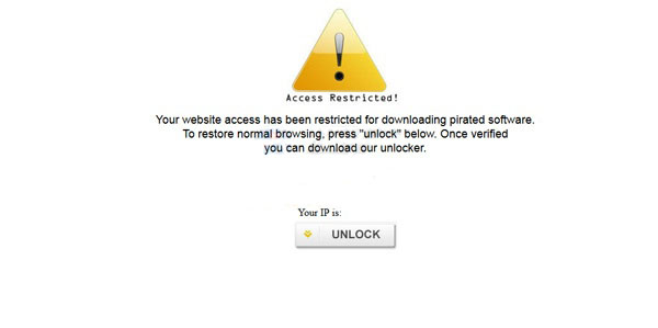 [Image: Your website access has been restricted for downloading pirated software virus]