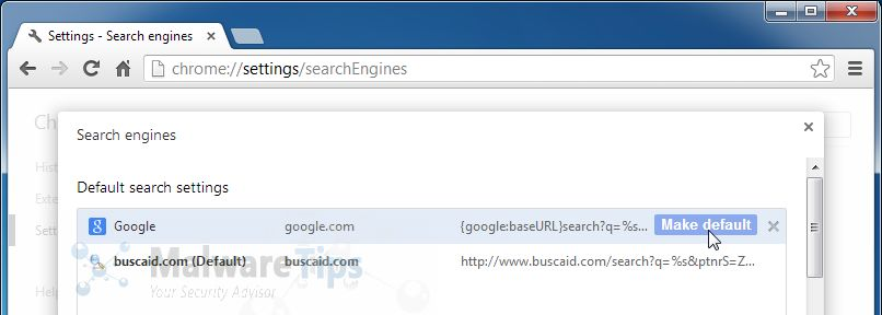 [Image: BuscaID search redirect]