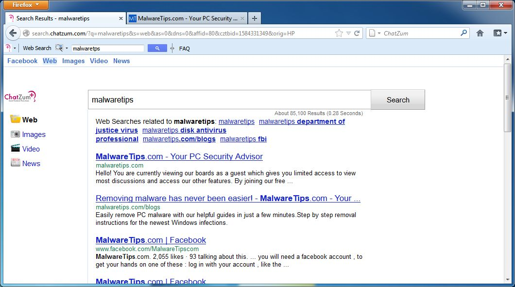How to get rid of Chatzum toolbar - Virus removal guide