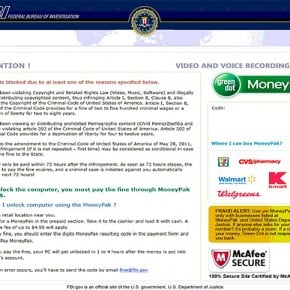 [Image: Federal Bureau of Investigation Scam]