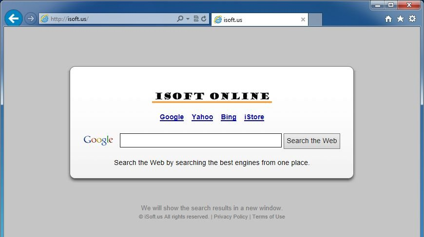 Remove Isoft Online homepage (Removal Guide)