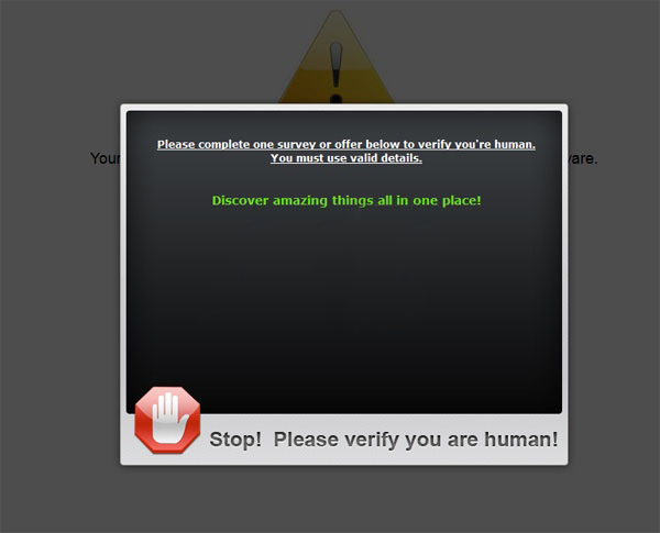 [Image: Please verify you are human virus]