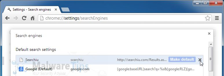 [Image: Searchiu.com search redirect removal]